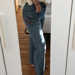 GAP '69 embroidered jeans